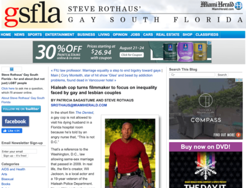 "MIAMI HERALD ""Cop Turns Filmaker Focus on Injustice"""